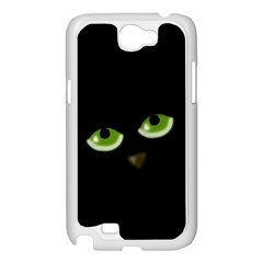 Halloween - back cat Samsung Galaxy Note 2 Case (White)
