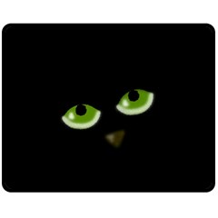 Halloween - back cat Double Sided Fleece Blanket (Medium)