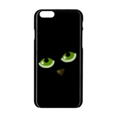 Halloween - back cat Apple iPhone 6/6S Black Enamel Case