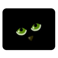 Halloween - back cat Double Sided Flano Blanket (Large)