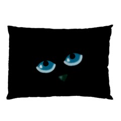 Halloween - black cat - blue eyes Pillow Case (Two Sides)