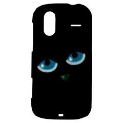 Halloween - black cat - blue eyes HTC Amaze 4G Hardshell Case