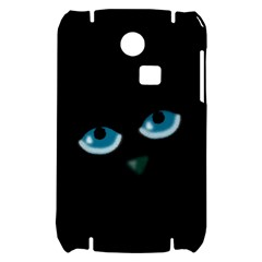 Halloween - black cat - blue eyes Samsung S3350 Hardshell Case