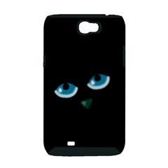 Halloween - black cat - blue eyes Samsung Galaxy Note 2 Hardshell Case (PC+Silicone)