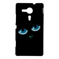 Halloween - black cat - blue eyes Sony Xperia SP