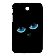 Halloween - black cat - blue eyes Samsung Galaxy Tab 3 (7 ) P3200 Hardshell Case