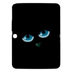 Halloween - black cat - blue eyes Samsung Galaxy Tab 3 (10.1 ) P5200 Hardshell Case