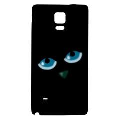 Halloween - black cat - blue eyes Galaxy Note 4 Back Case