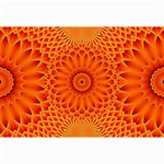Lotus Fractal Flower Orange Yellow Collage Prints 18 x12 Print - 1