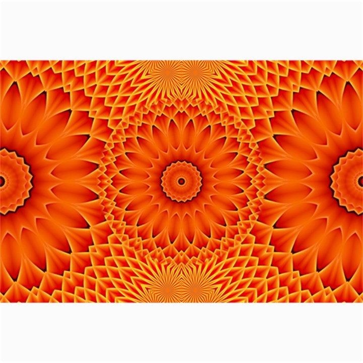 Lotus Fractal Flower Orange Yellow Collage Prints