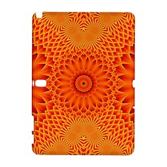 Lotus Fractal Flower Orange Yellow Samsung Galaxy Note 10 1 (p600) Hardshell Case