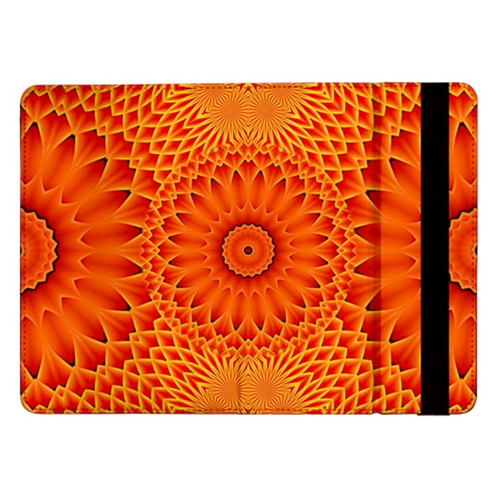 Lotus Fractal Flower Orange Yellow Samsung Galaxy Tab Pro 12.2  Flip Case