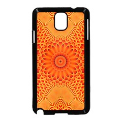 Lotus Fractal Flower Orange Yellow Samsung Galaxy Note 3 Neo Hardshell Case (black)