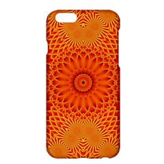 Lotus Fractal Flower Orange Yellow Apple Iphone 6 Plus/6s Plus Hardshell Case