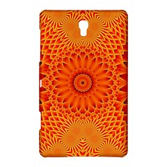 Lotus Fractal Flower Orange Yellow Samsung Galaxy Tab S (8 4 ) Hardshell Case