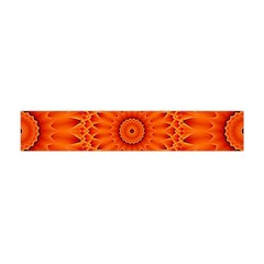 Lotus Fractal Flower Orange Yellow Flano Scarf (mini)