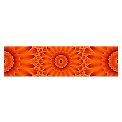 Lotus Fractal Flower Orange Yellow Satin Scarf (oblong)