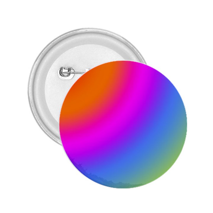 Radial Gradients Red Orange Pink Blue Green 2.25  Buttons