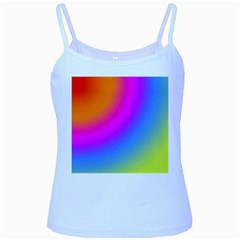 Radial Gradients Red Orange Pink Blue Green Baby Blue Spaghetti Tank
