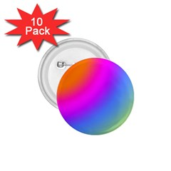 Radial Gradients Red Orange Pink Blue Green 1 75  Buttons (10 Pack)