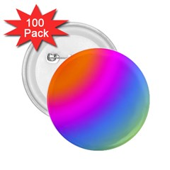 Radial Gradients Red Orange Pink Blue Green 2 25  Buttons (100 Pack)
