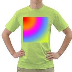 Radial Gradients Red Orange Pink Blue Green Green T Shirt