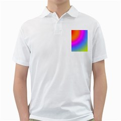 Radial Gradients Red Orange Pink Blue Green Golf Shirts