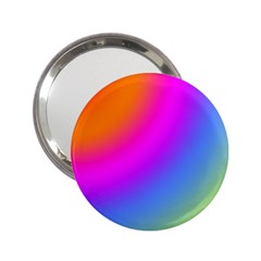Radial Gradients Red Orange Pink Blue Green 2 25  Handbag Mirrors