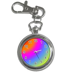 Radial Gradients Red Orange Pink Blue Green Key Chain Watches