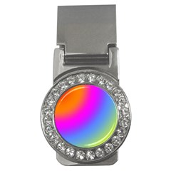 Radial Gradients Red Orange Pink Blue Green Money Clips (cz)