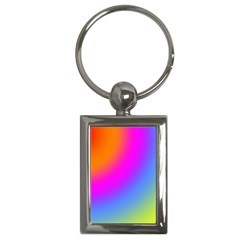 Radial Gradients Red Orange Pink Blue Green Key Chains (rectangle)