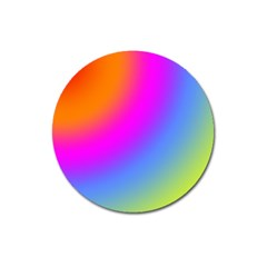 Radial Gradients Red Orange Pink Blue Green Magnet 3  (round)
