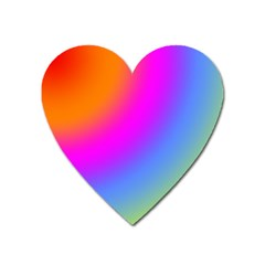 Radial Gradients Red Orange Pink Blue Green Heart Magnet