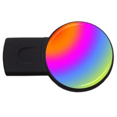 Radial Gradients Red Orange Pink Blue Green Usb Flash Drive Round (2 Gb)
