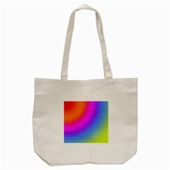 Radial Gradients Red Orange Pink Blue Green Tote Bag (cream)