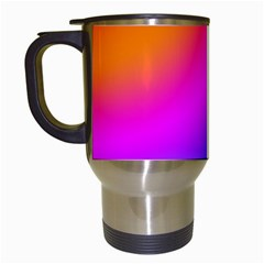 Radial Gradients Red Orange Pink Blue Green Travel Mugs (white)