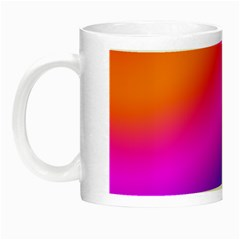Radial Gradients Red Orange Pink Blue Green Night Luminous Mugs
