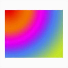 Radial Gradients Red Orange Pink Blue Green Small Glasses Cloth