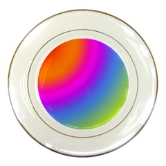 Radial Gradients Red Orange Pink Blue Green Porcelain Plates
