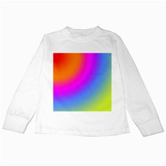 Radial Gradients Red Orange Pink Blue Green Kids Long Sleeve T Shirts