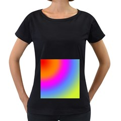 Radial Gradients Red Orange Pink Blue Green Women s Loose Fit T Shirt (black)