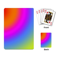 Radial Gradients Red Orange Pink Blue Green Playing Card