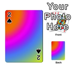Radial Gradients Red Orange Pink Blue Green Playing Cards 54 Designs