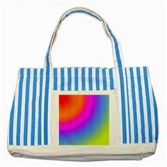 Radial Gradients Red Orange Pink Blue Green Striped Blue Tote Bag