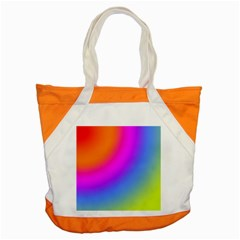 Radial Gradients Red Orange Pink Blue Green Accent Tote Bag
