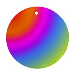 Radial Gradients Red Orange Pink Blue Green Round Ornament (two Sides)