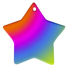 Radial Gradients Red Orange Pink Blue Green Star Ornament (two Sides)