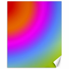 Radial Gradients Red Orange Pink Blue Green Canvas 16  X 20