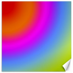 Radial Gradients Red Orange Pink Blue Green Canvas 20  X 20