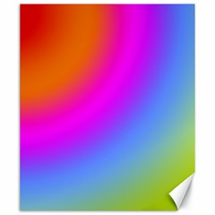 Radial Gradients Red Orange Pink Blue Green Canvas 20  X 24